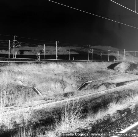 Paysage en train grande vitesse